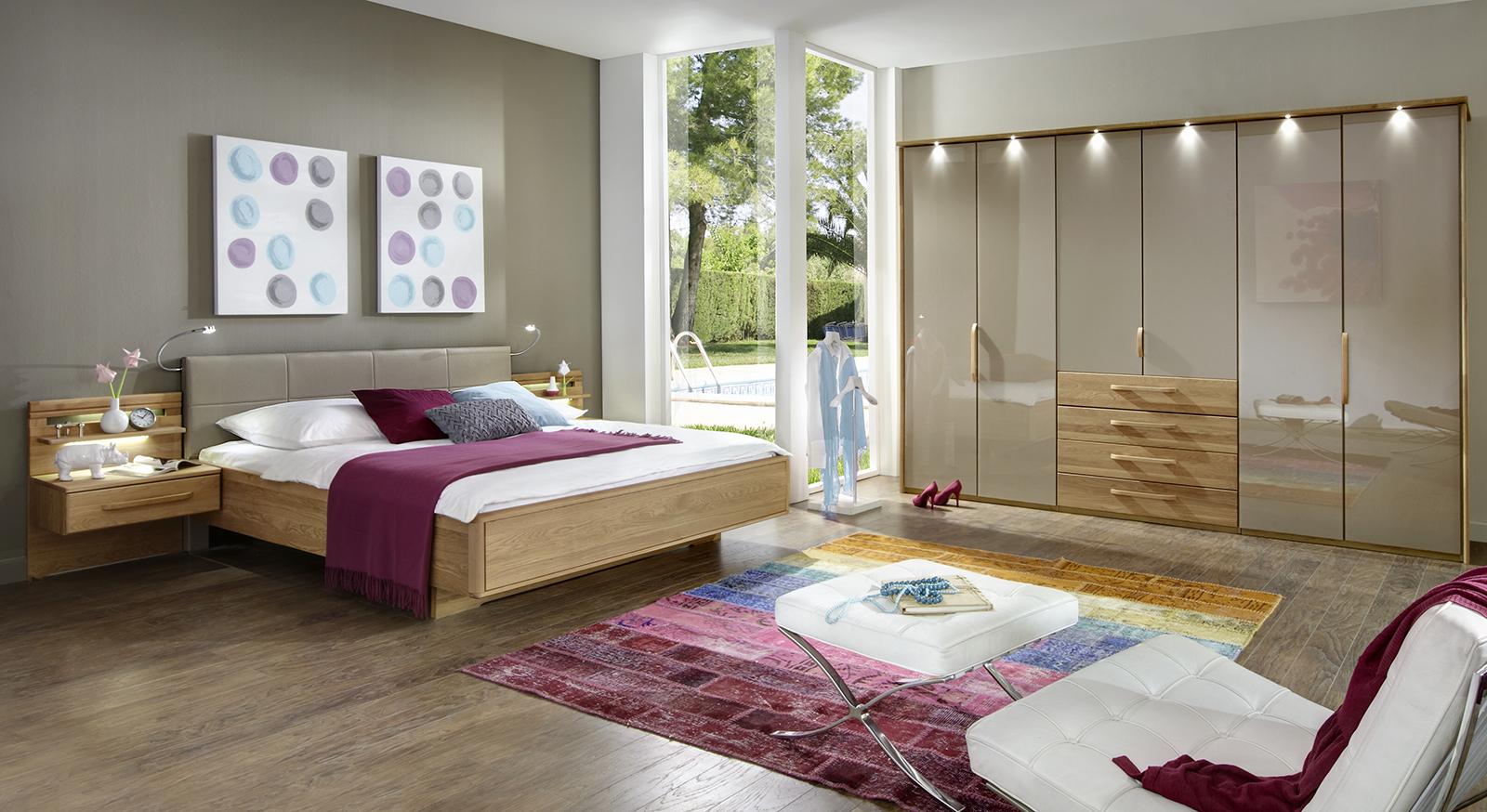 edles komplett schlafzimmer mit schwebebett morley sahara. Black Bedroom Furniture Sets. Home Design Ideas