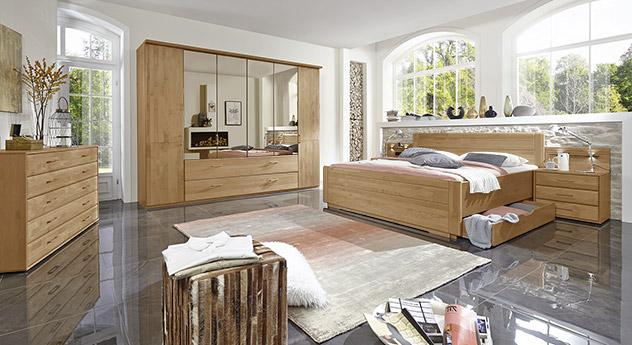 Komplett-Schlafzimmer Narite mit einheitlichem Zubehör