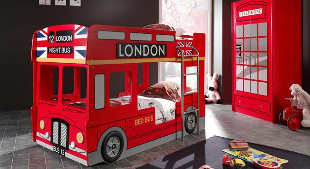 Komplett-Schlafzimmer Paddington aus rotem MDF