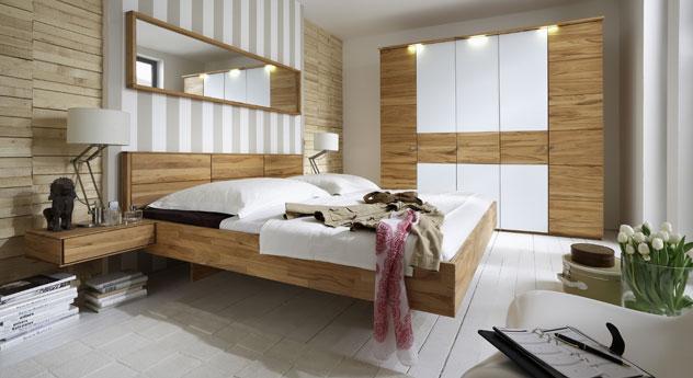 Modernes komplett schlafzimmer aus kernbuche rosso for Jugendzimmer holz massiv