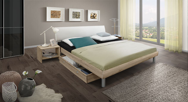 Komplett-Schlafzimmer Tanaro in Eiche Sanremo