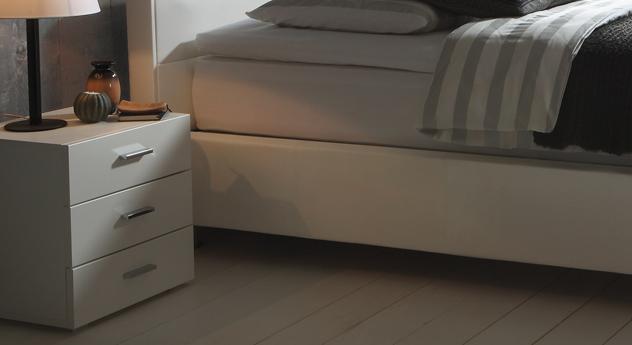Kopenhagen Schubladen-Nachttisch aus Mdf in Weiß