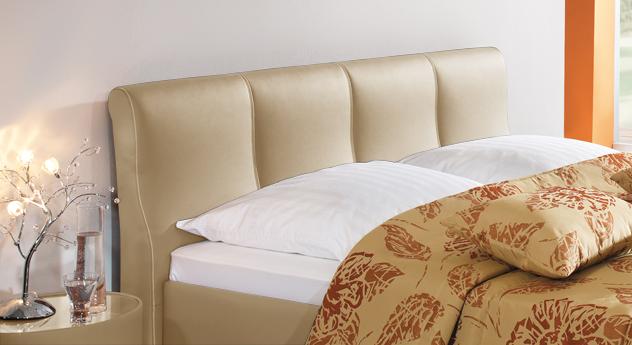 Bett Toskana Kopfteil weich gepolstert