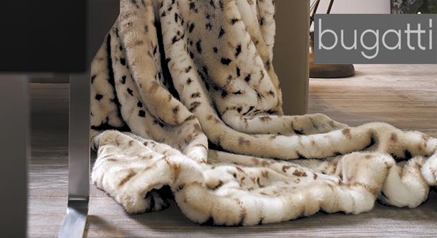 Hochwertig weiche Kunstfelldecke Gepard von Bugatti