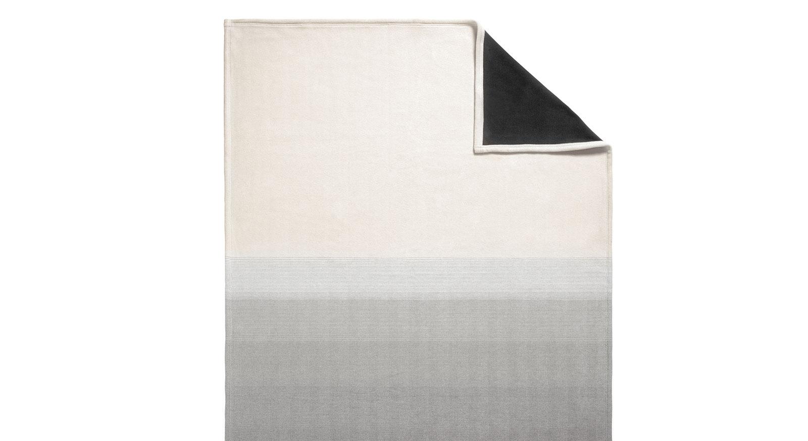 Hochwertige Kuscheldecke Bicolor in Grau
