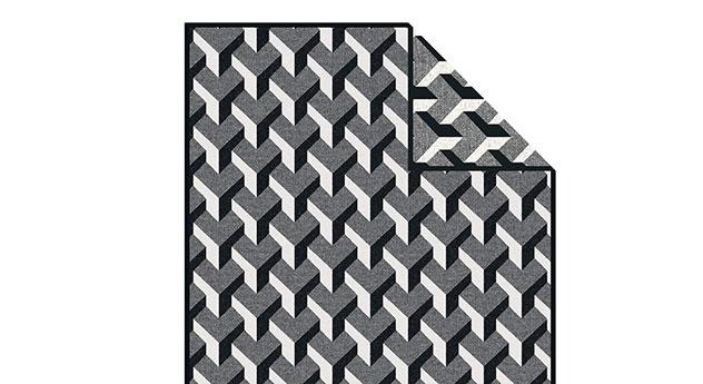 Moderne Kuscheldecke Black & White mit stylischem Muster
