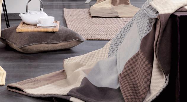 Kuscheldecke Chalet aus reiner Baumwolle