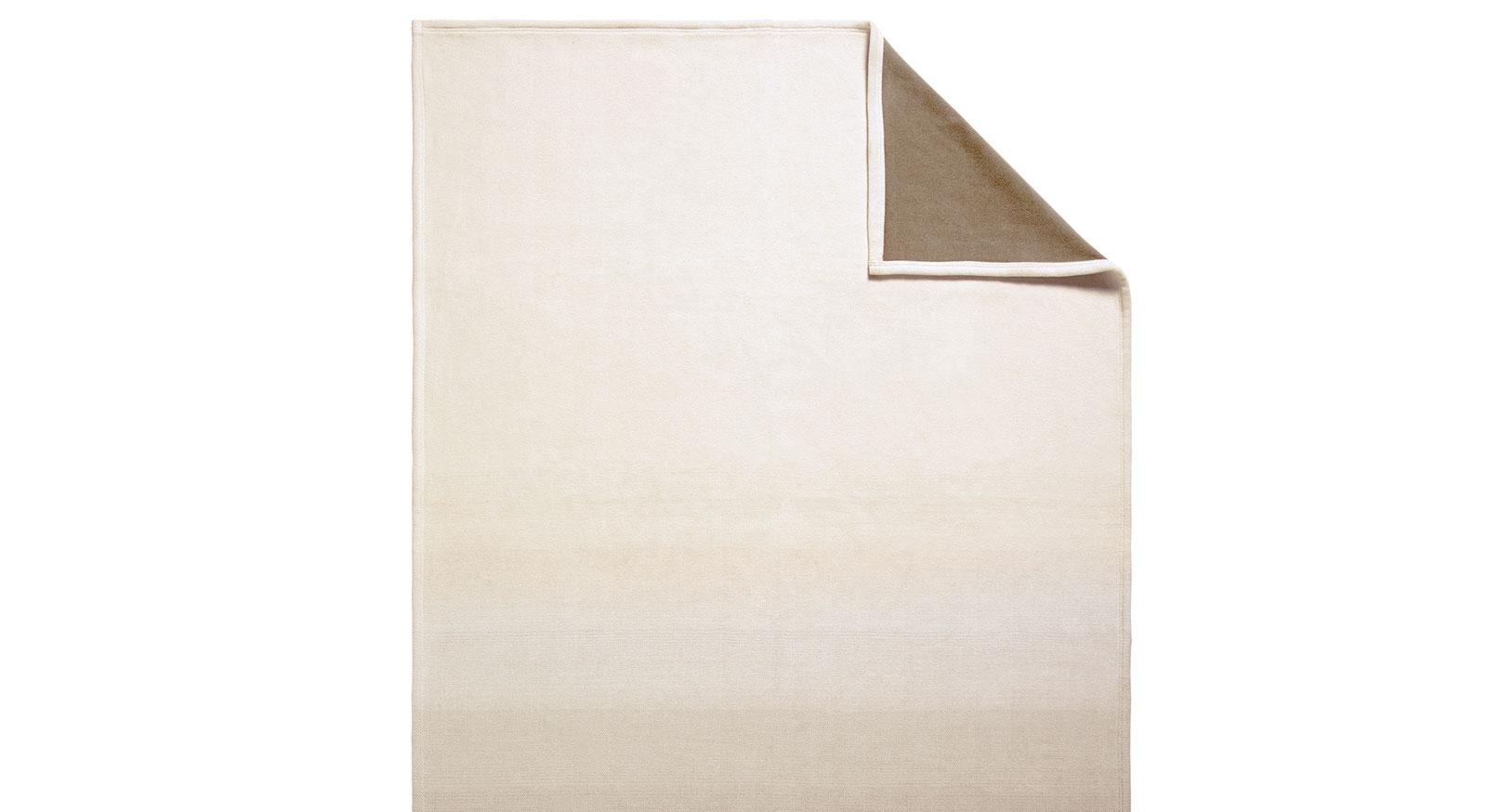 Qualitäts-Kuscheldecke Bicolor in modernem beige