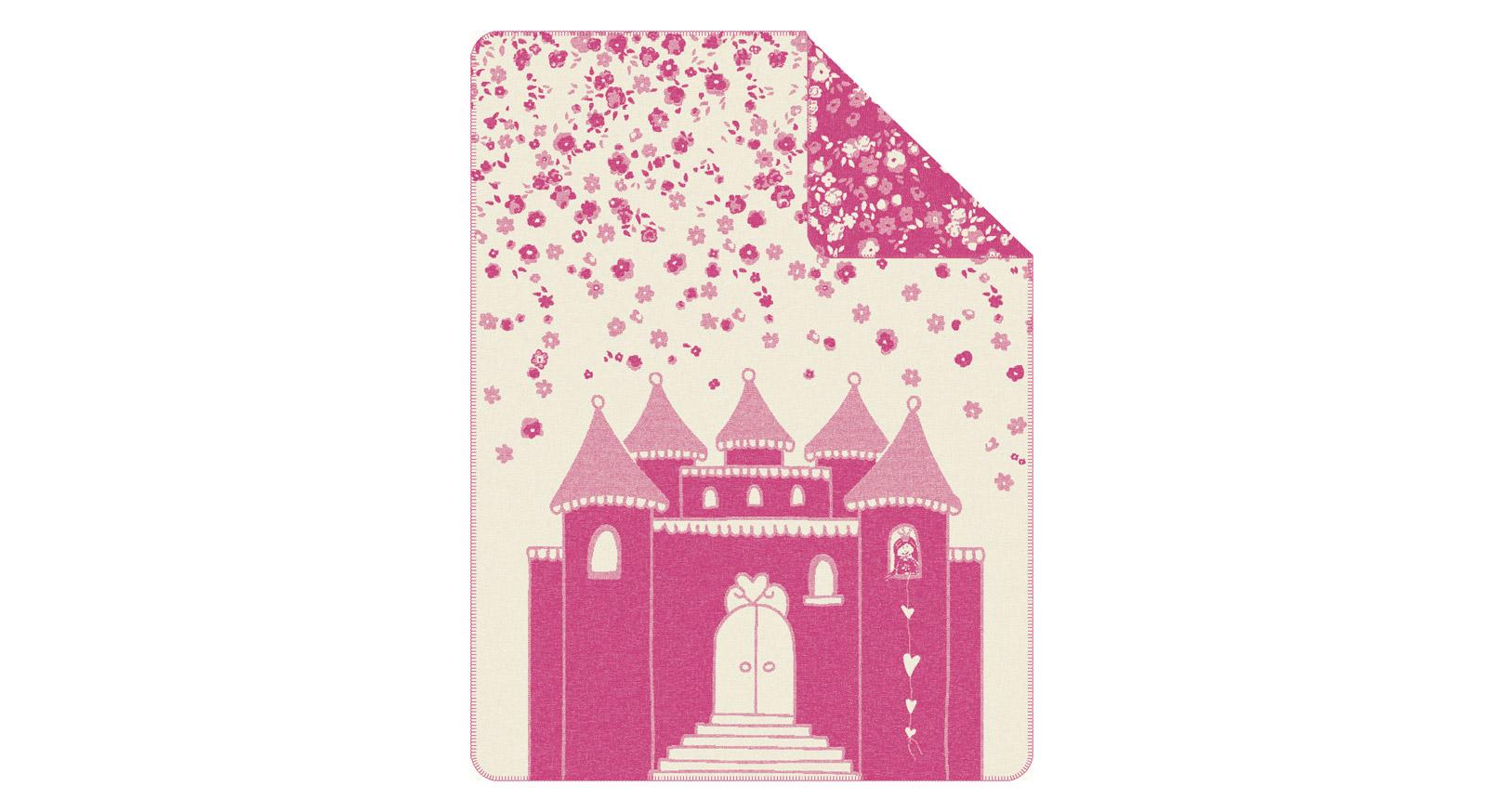 Kuscheldecke s.Oliver Märchenwelt in Pink und Weiß