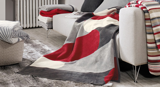 Moderne Kuscheldecke Vogue in tollem Design