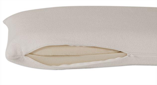 Latex-Nackenstützkissen youSleep mit Kissenbzug inklusive Reißverschluss