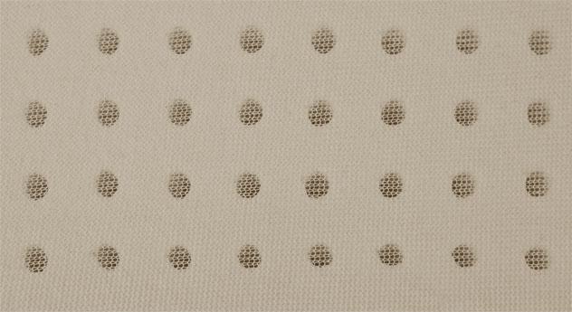 Latexkern vom Latex-Nackenstützkissen youSleep mit Perforierung
