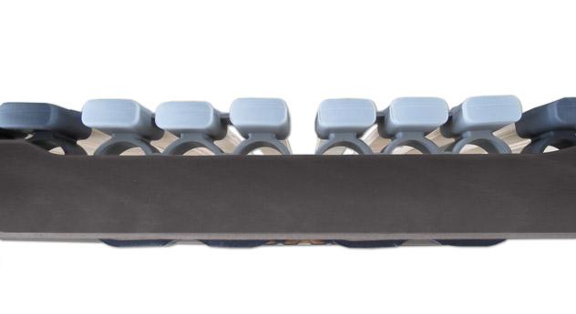 Lattenrost orthowell ultraflex mit flexiblen Kautschuk-Kappen