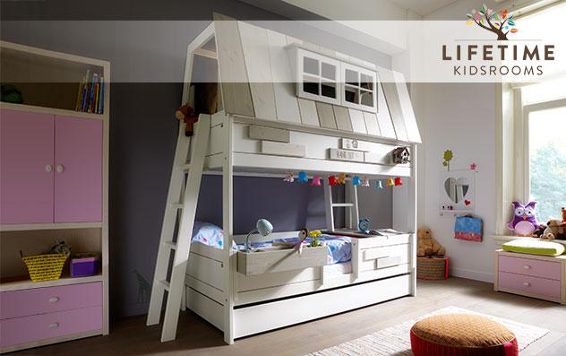 Lifetime Abenteuer und Etagenbett Villa mit Leiter innen und außen