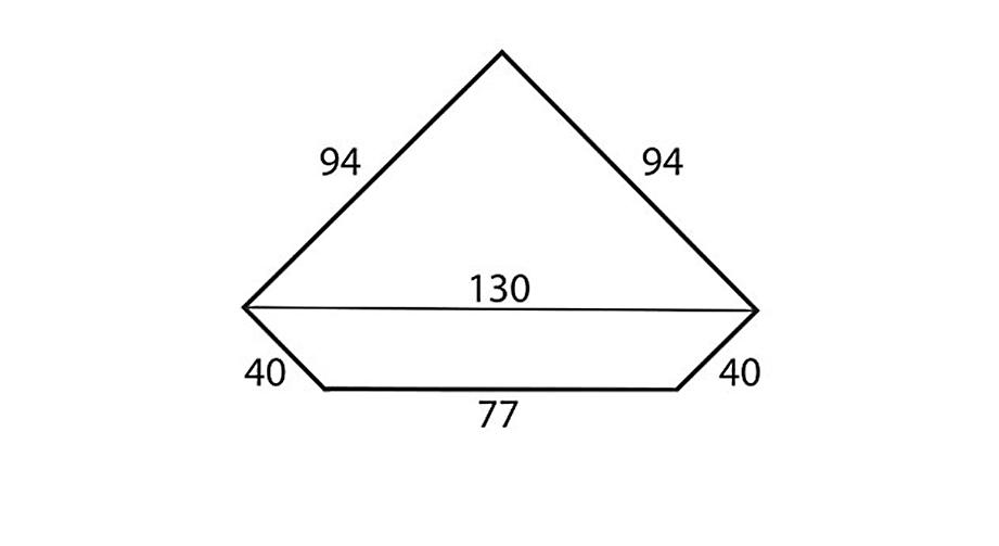 Eine Übersicht der Maße des LIFETIME Eck-Kleiderschranks in cm