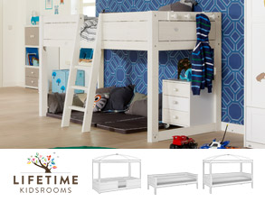 kinderbetten hochbetten und spielbetten von lifetime. Black Bedroom Furniture Sets. Home Design Ideas