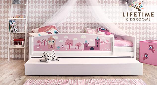Lifetime Kinderbett Prinzessin mit pinkem Motiv