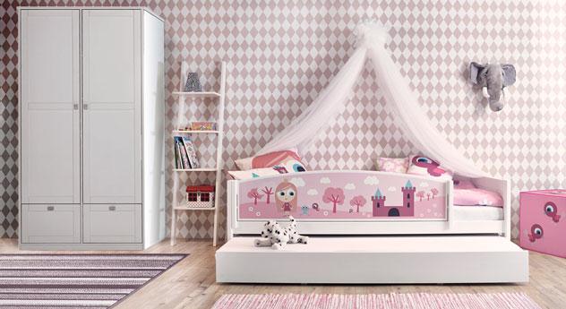 Lifetime Kinderbett Prinzessin in Weiß mit passenden Produkten