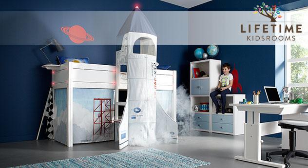 Lifetime Midi Hochbett Rakete für kleine Astronauten