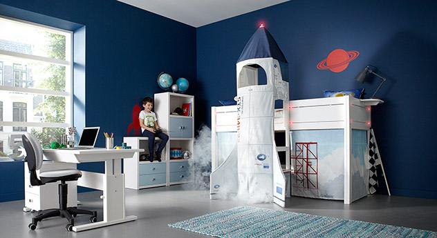Lifetime Midi-Hochbett Rakete in Weiß lackiert mit passenden Produkten