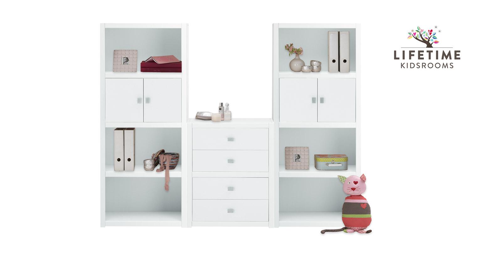 wei e regalwand original von lifetime in gr e m. Black Bedroom Furniture Sets. Home Design Ideas