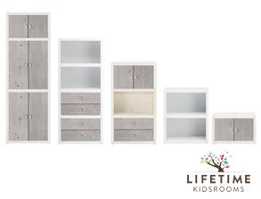 wei e kinderzimmer regale von lifetime. Black Bedroom Furniture Sets. Home Design Ideas
