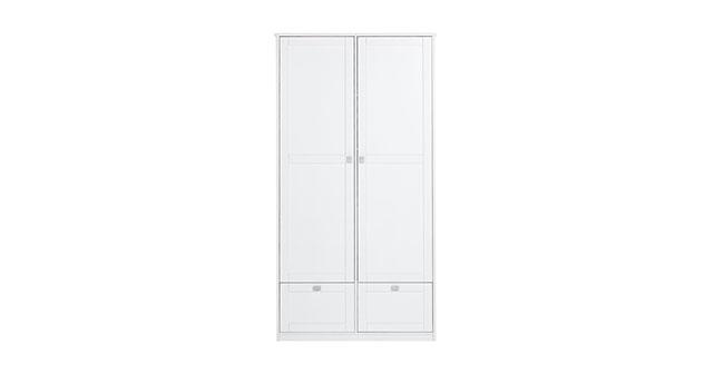 Weiß lackierter Schubladen Kleiderschrank mit 2 Türen von Lifetime