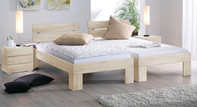Massivholzbett Lucca komfort in edlem Weiß