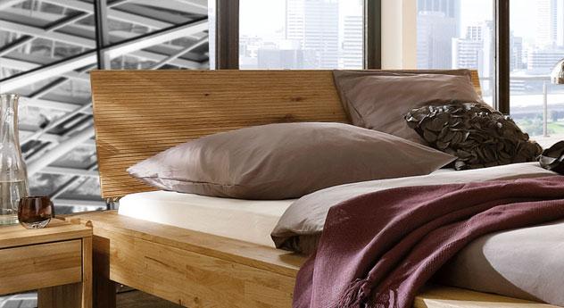 Bett Marsala mit schön designtem Kopfteil