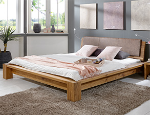 stabile massivholzbetten in 180x200 cm online kaufen. Black Bedroom Furniture Sets. Home Design Ideas