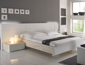 schubladen kommode aus akazienholz in wei arezzo. Black Bedroom Furniture Sets. Home Design Ideas