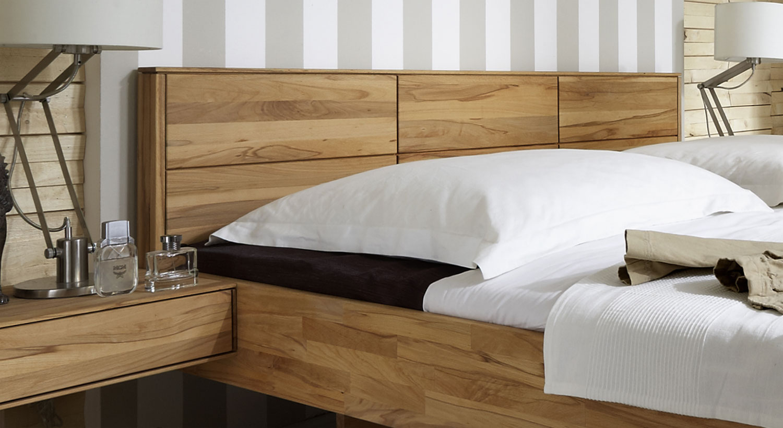 Massivholzbett Schwebend Aus Kernbuche Rosso Betten De