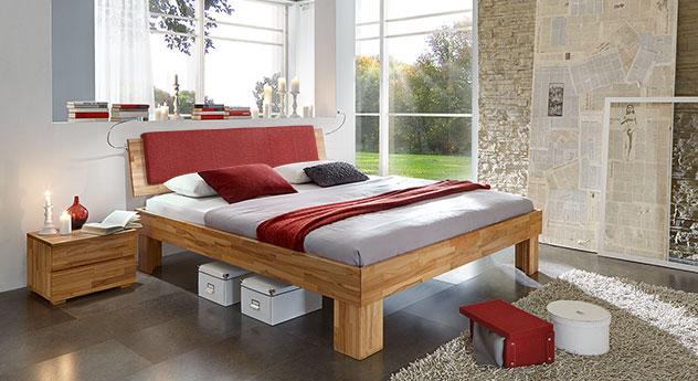 Kirschbaumfarbenes Bett aus Massivholz - Bett Nevada