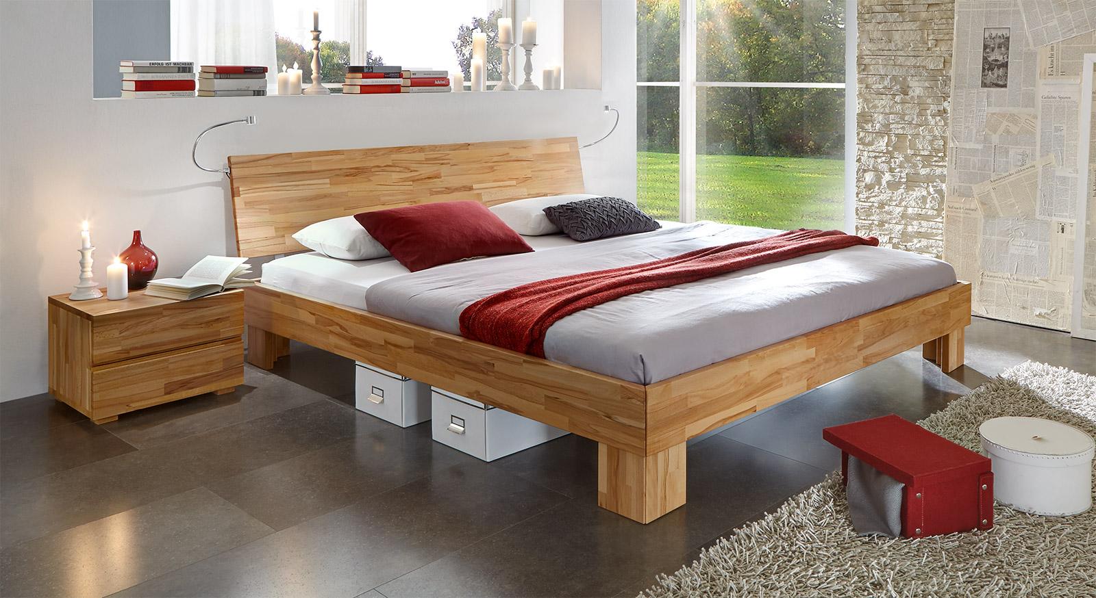 Excellent Doppelbett Nevada Aus Massiver Buche Wengefarben With Bett Eiche  Massiv X With Buche Bett 180x200