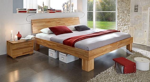kirschbaumfarbenes bett aus massivholz bett nevada. Black Bedroom Furniture Sets. Home Design Ideas