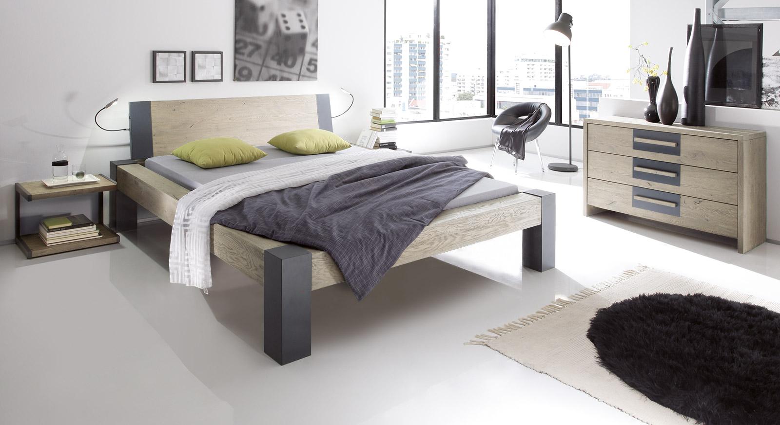 bett aus wildeiche in z b 160x200 cm serio. Black Bedroom Furniture Sets. Home Design Ideas