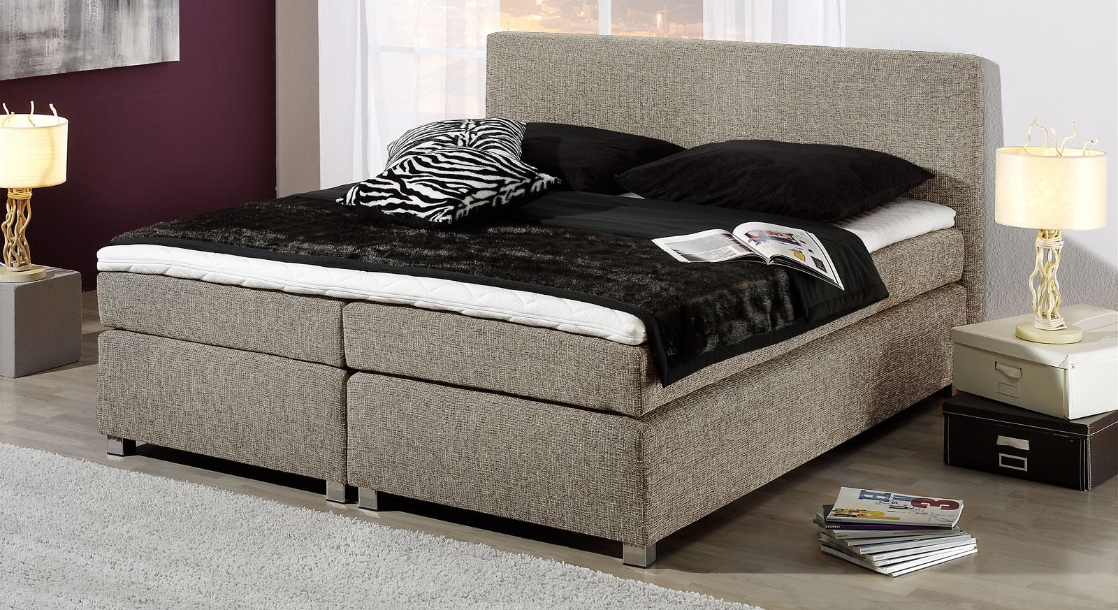 boxspring bettgestell mit kaltschaum topper melbourne. Black Bedroom Furniture Sets. Home Design Ideas