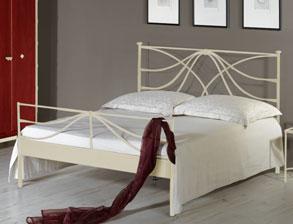 Modernes Schlafzimmer komplett mit Metallbett - Arica