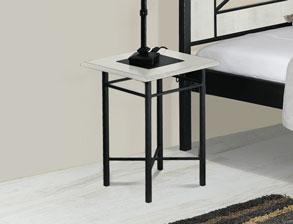 Nachttisch Metall Weiß ~ Metall nachttische z b aus massivem schmiedeeisen