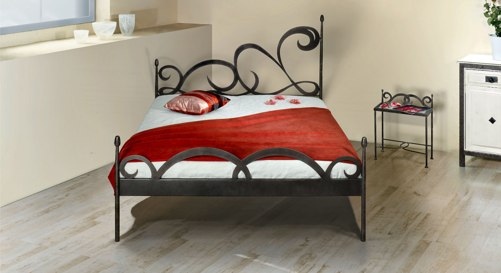 stylisches metallbett z b 180x200 cm in braun temco. Black Bedroom Furniture Sets. Home Design Ideas