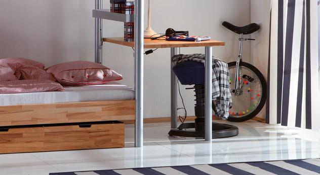 Midi-Etagenbett Jona praktischer Schreibtisch
