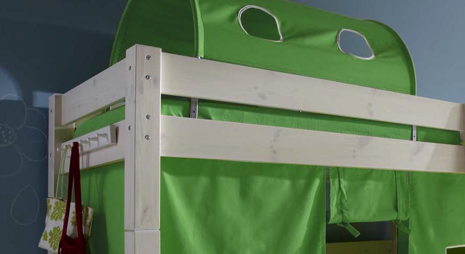 Midi-Hochbett Kids Dreams mit Fallschutz und optionalem Spieltunnel