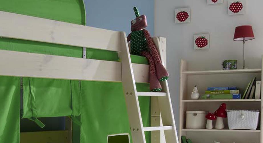 Midi-Hochbett Kids Dreams mit komfortabler Leiter