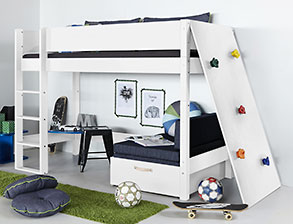 kinderhochbett kinderhochbetten g nstig kaufen. Black Bedroom Furniture Sets. Home Design Ideas