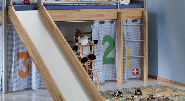 Mini Hochbett Bastian mit stabiler Leiter