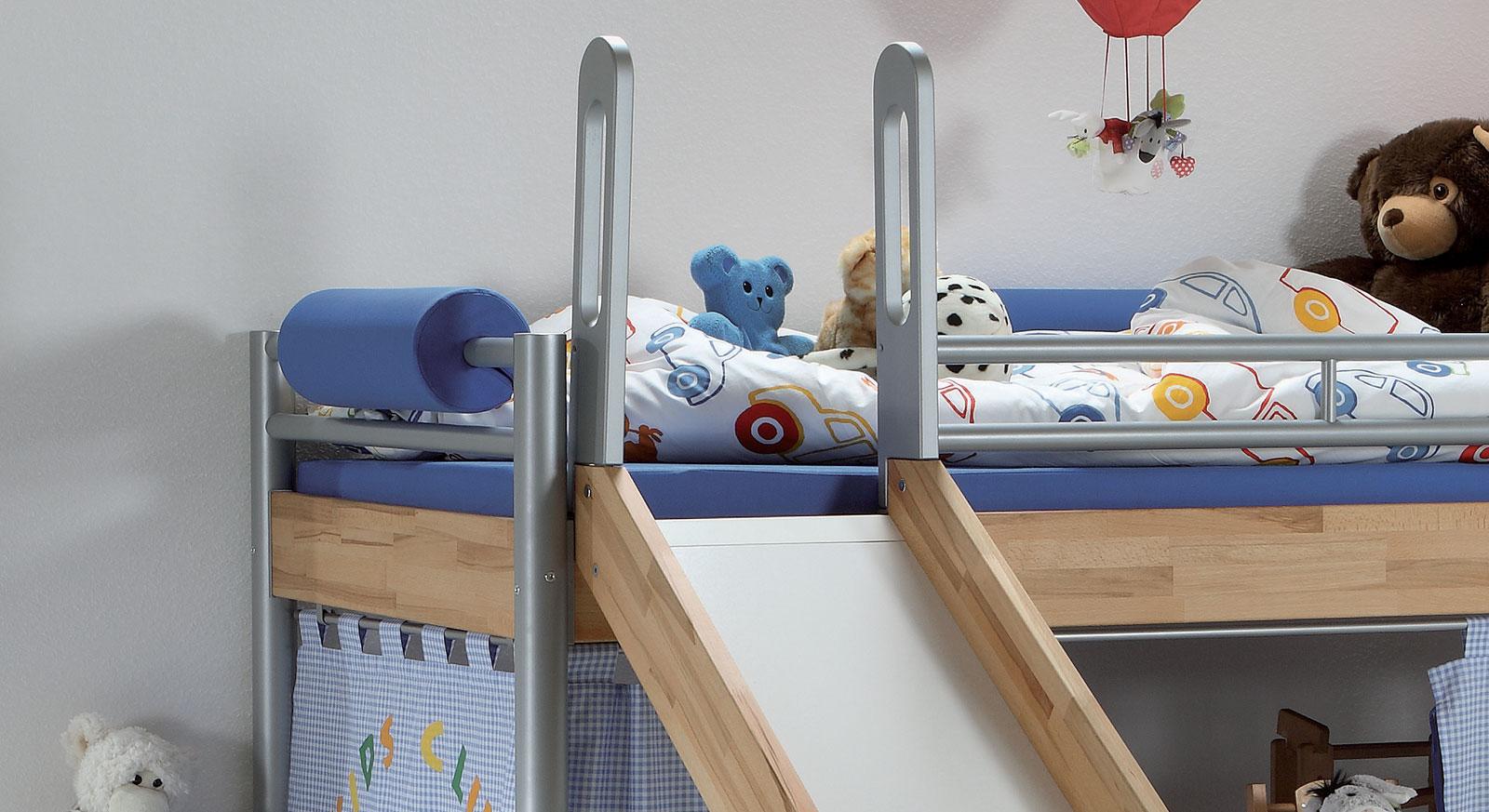 Mini hochbett mini hochbett mit rutsche t v gepr ft kids for Wohnzimmereinrichtung landhausstil