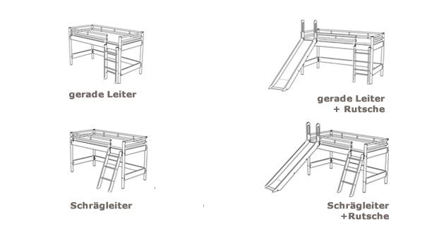 Mini Hochbett Felix Varianten