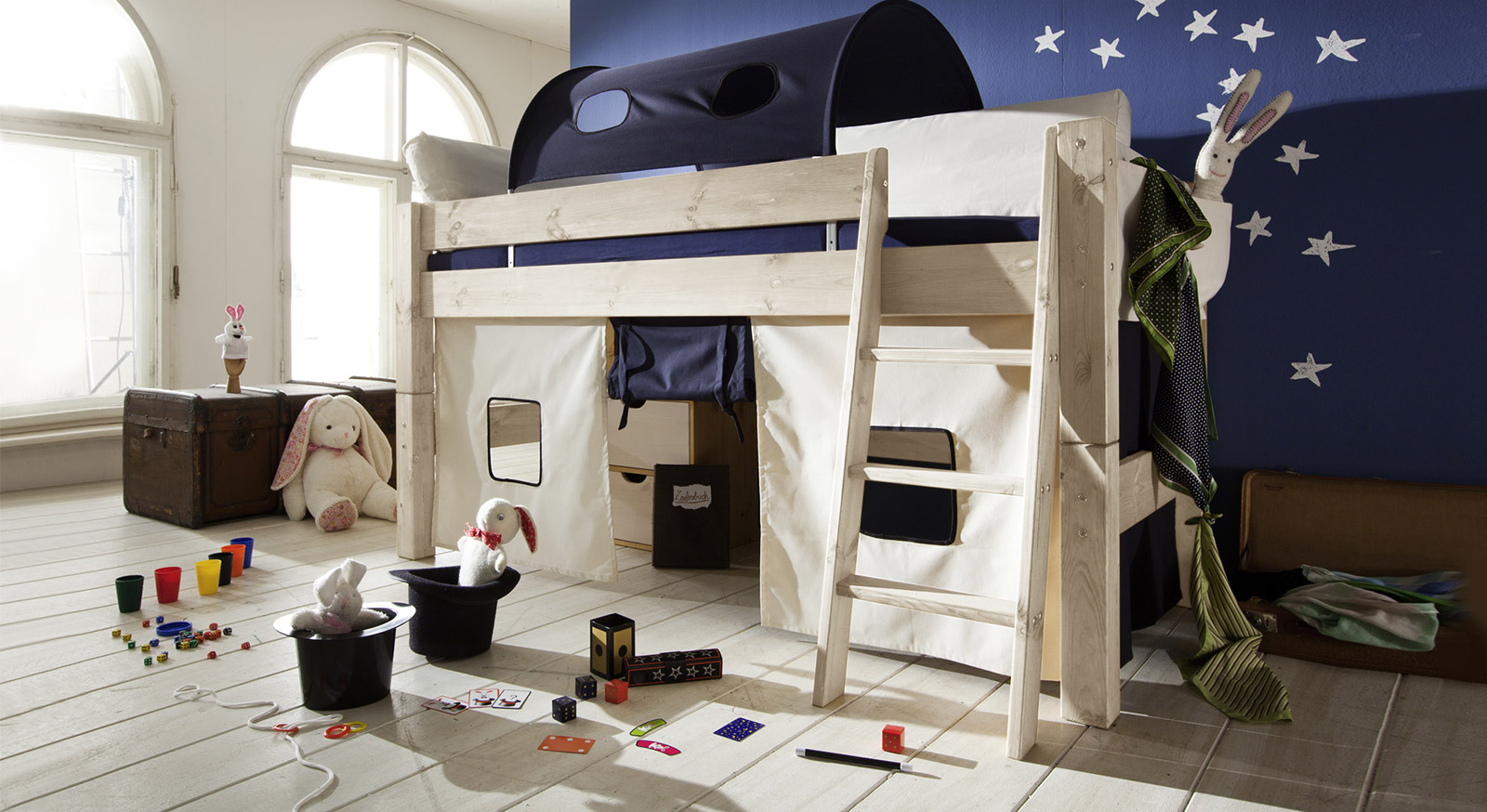 Hochwertiges Mini-Hochbett Kids Dreams in Kiefer weiß