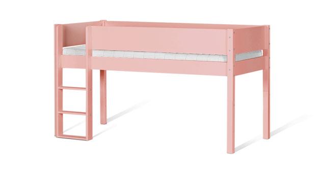 Mini-Hochbett Kids Town Color in Rosa