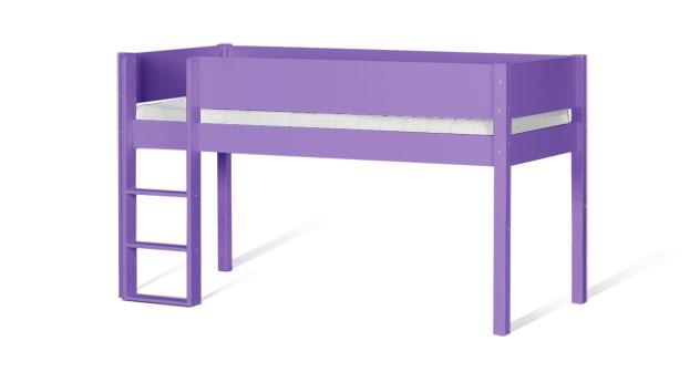 Mini-Hochbett Kids Town Color in Violett